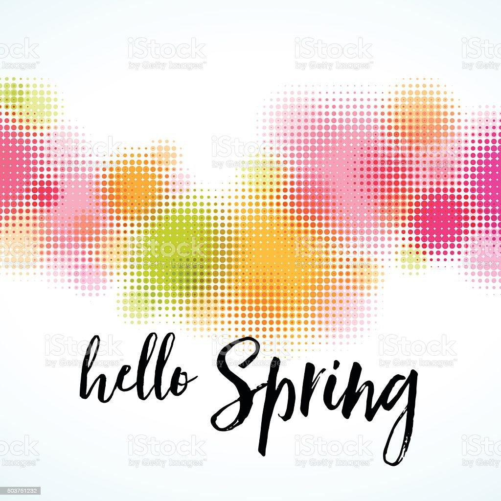 Contemporary Abstract Spring Border Background Royalty Free Stock Vector Art