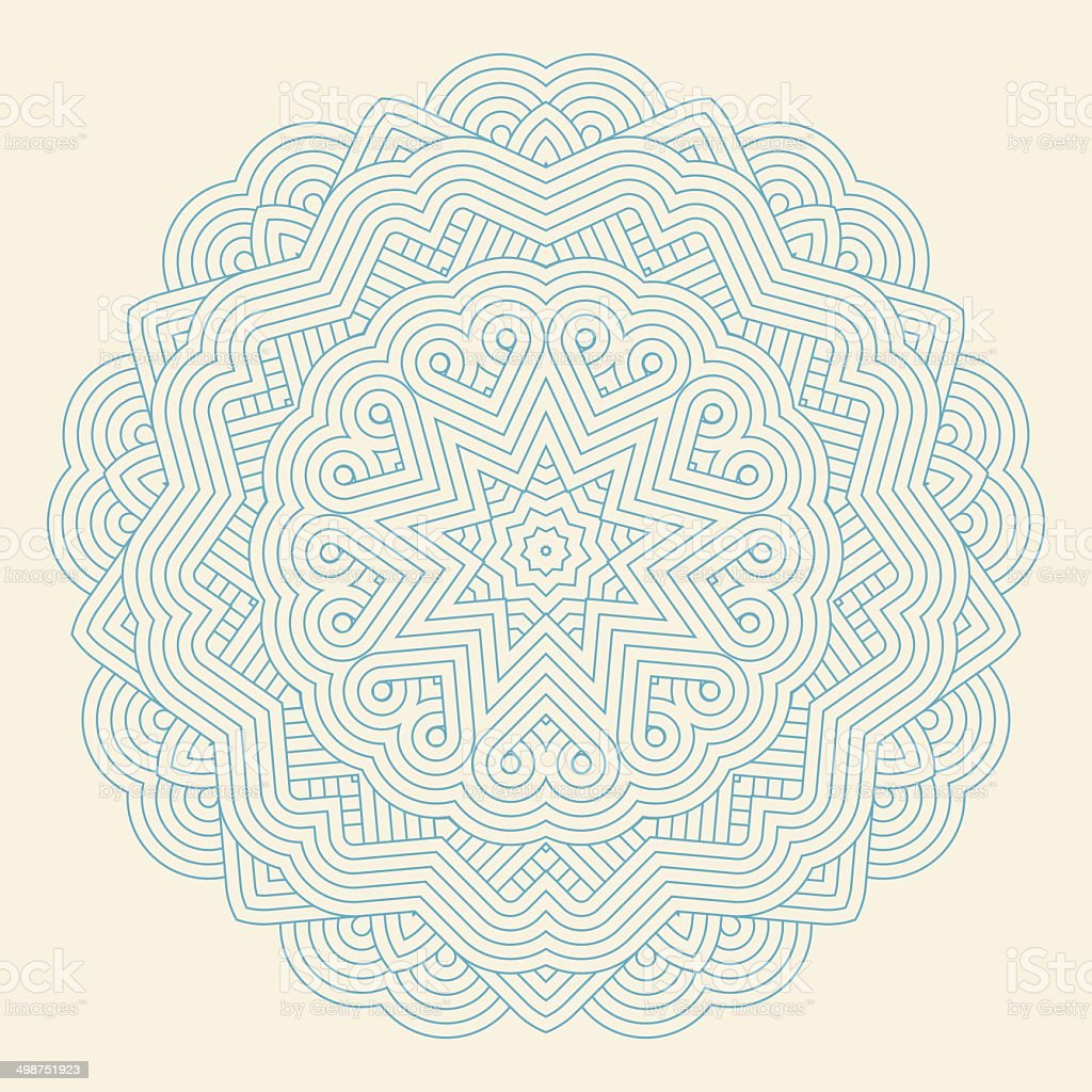Contemporary doily round lace floral pattern royalty-free stock vector art