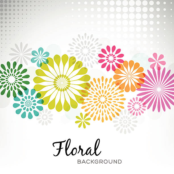 Contemporary Floral Background vector art illustration
