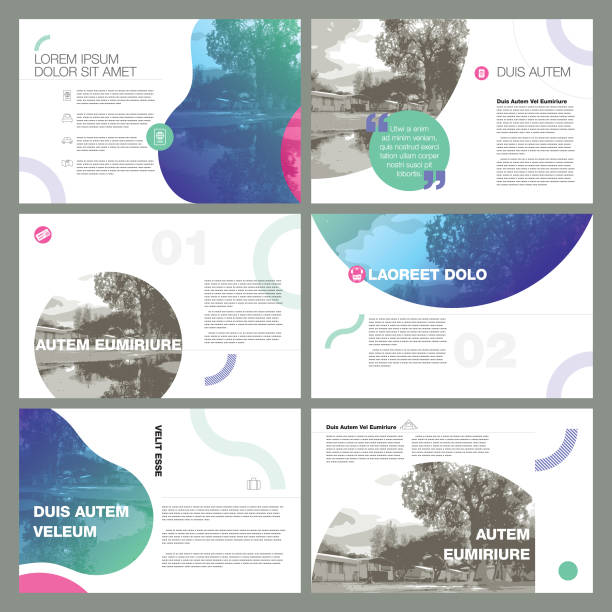 contemporary page layout designs vector art illustration