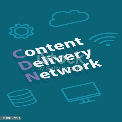 CDN, Content Delivery Network concept  -vector illustration