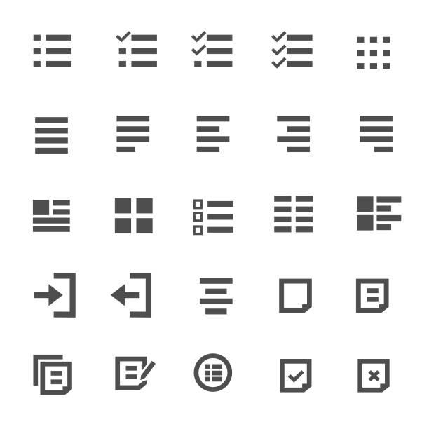 symbol inhalt - liste stock-grafiken, -clipart, -cartoons und -symbole