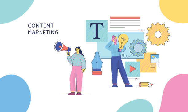 Content-Marketing – Vektorgrafik