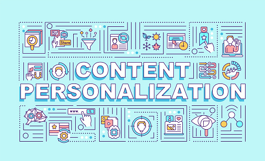 Content personalization word concepts banner