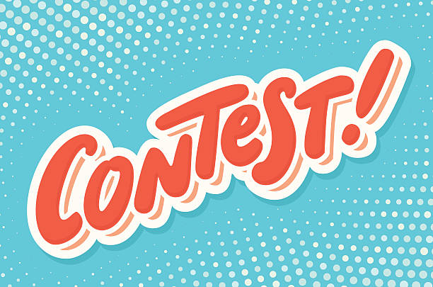 contest banner. hand lettering. - competition stock illustrations
