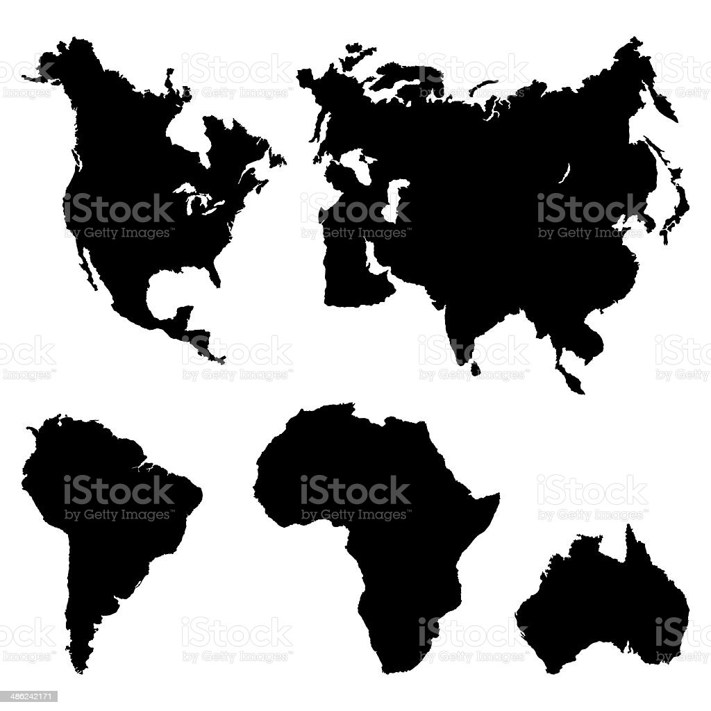 Continents Pictogram vector art illustration