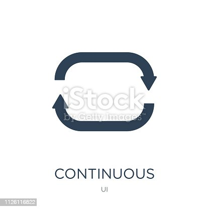 istock continuous icon vector on white background, continuous trendy filled icons from UI collection, continuous vector illustration 1126116822