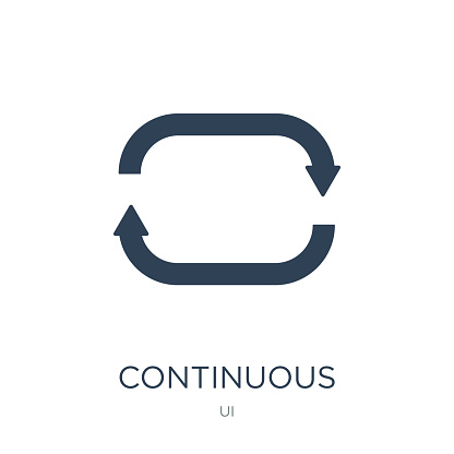 continuous icon vector on white background, continuous trendy filled icons from UI collection, continuous vector illustration