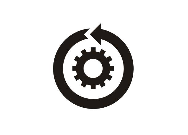continuous improvement simple icon vector art illustration