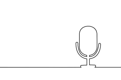 Continuous line drawing of sound.