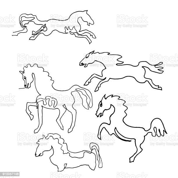Continuous one line drawing horses minimalism style text wild animals vector id910057148?b=1&k=6&m=910057148&s=612x612&h=asbjexxj36zszz6kcuvikkk7kvfegzvu1jhhr6fbzvc=