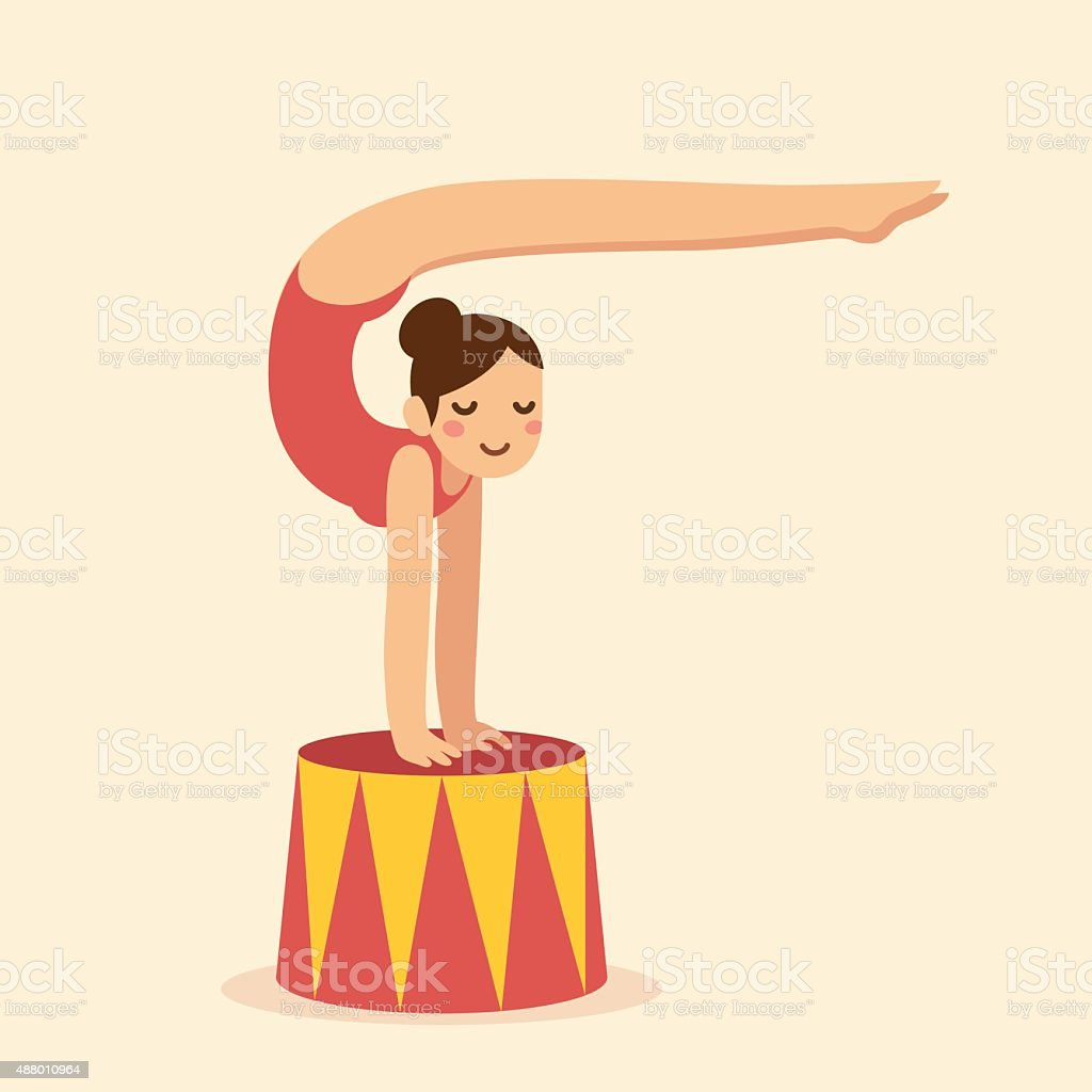 Contortionist vector art illustration