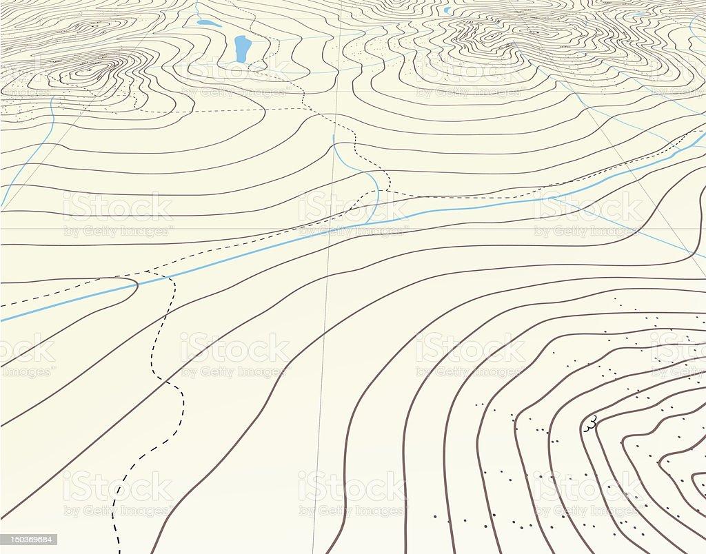 Contour background vector art illustration