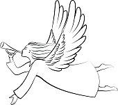 Free download of Christmas Angel Cartoon vector graphics