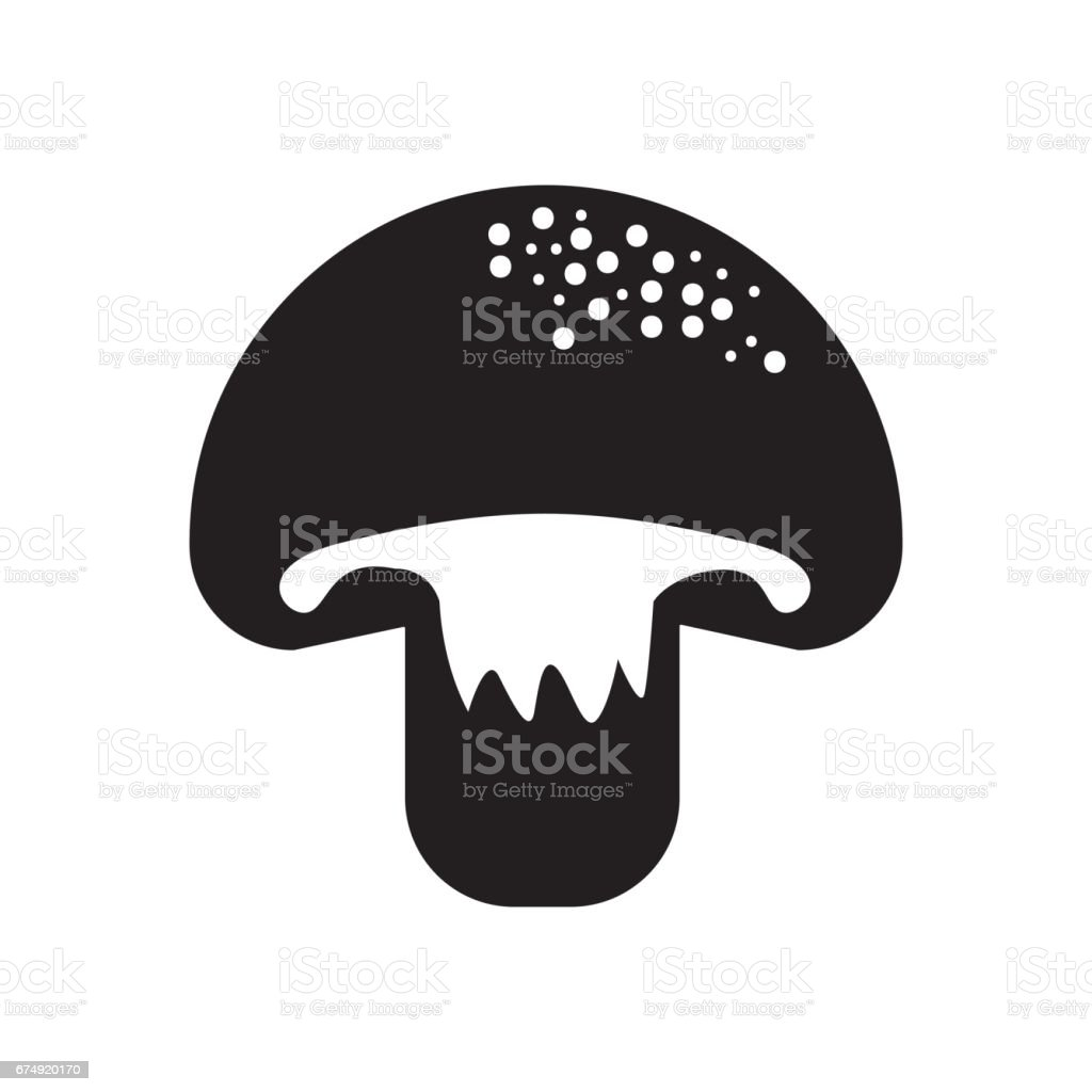 contour delicious fresh mushroom organ food royalty-free contour delicious fresh mushroom organ food stock vector art & more images of agriculture