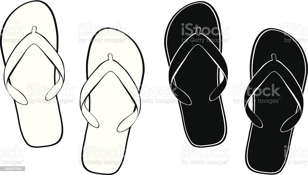Contour Flip Flops royalty-free stock vector art