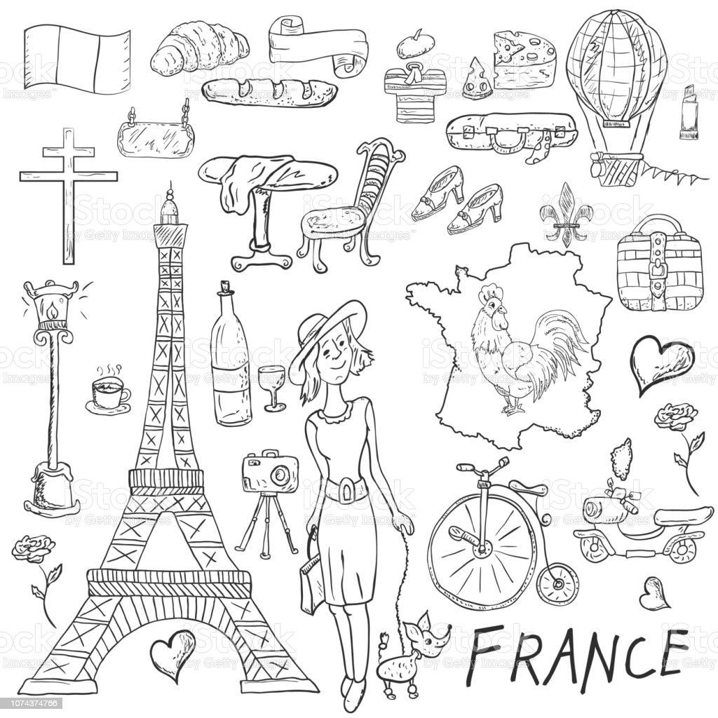 Ilustración De Ilustración De Contorno Para Colorear Viaje