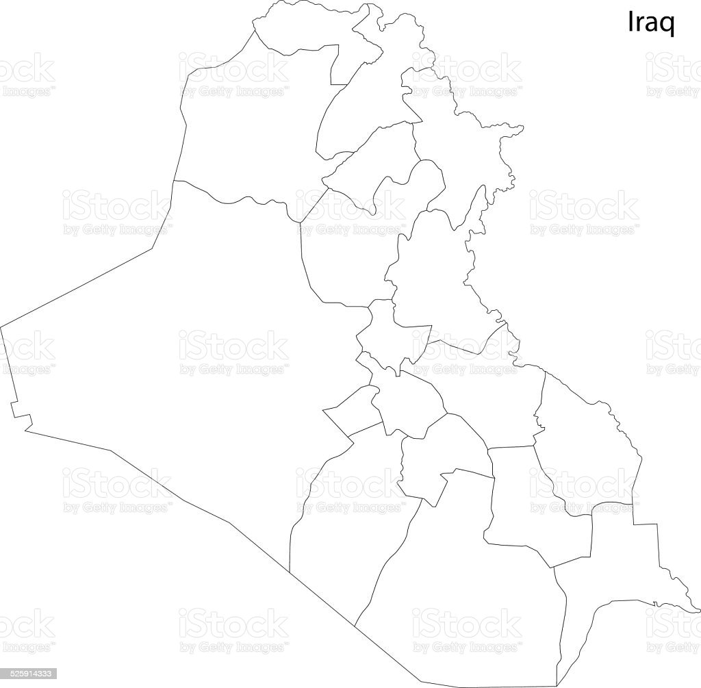 Contour Iraq Map Stock Illustration - Download Image Now