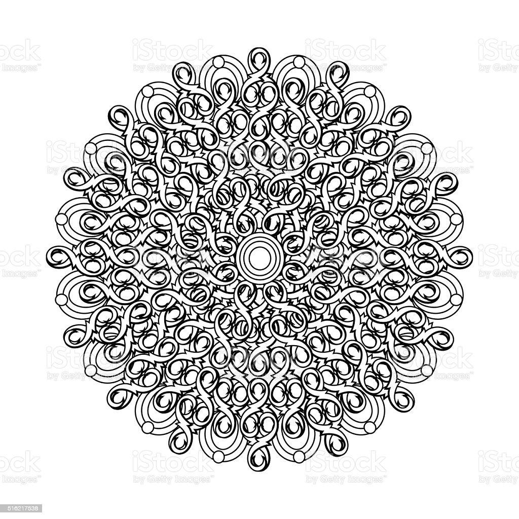 Contour Mandala étnica Religiosa Elemento De Desenho De