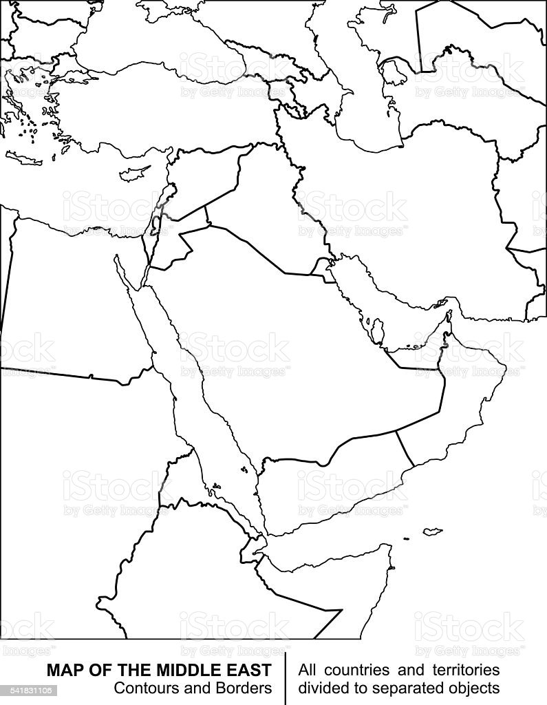 It's just a photo of Nerdy Printable Maps of the Middle East
