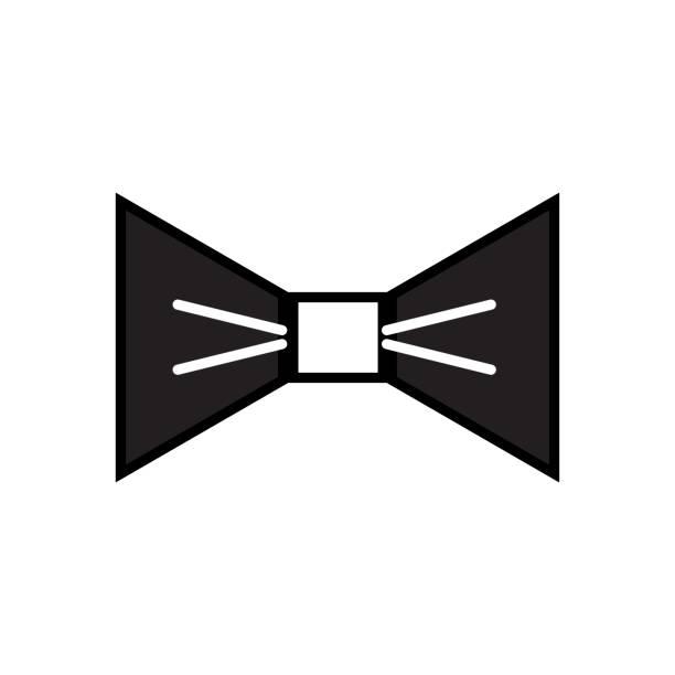 kontur schön bowtie stil dekoration design - batikhemden stock-grafiken, -clipart, -cartoons und -symbole