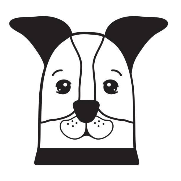 컨투어 좋은 개 국내 포유류 동물 - 강아지 실루엣 stock illustrations
