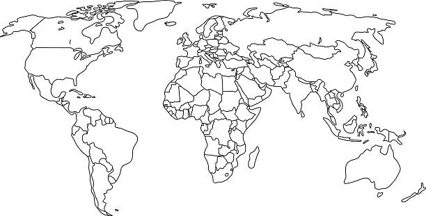 Royalty Free World Map Outline Clip Art, Vector Images ...