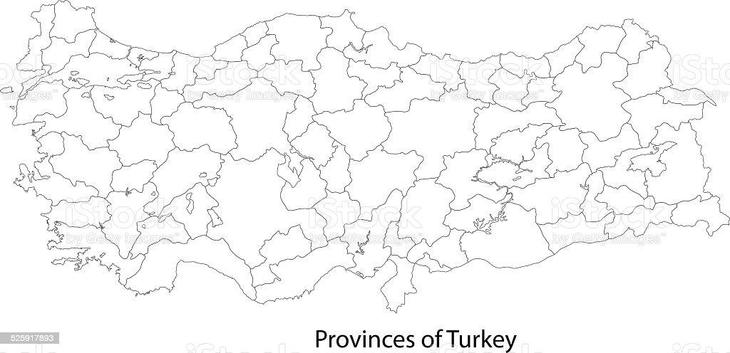 Contour Turkey Map stock vector art 525917893 iStock
