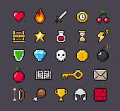 istock Contoured Pixel Game Icons 1319091484