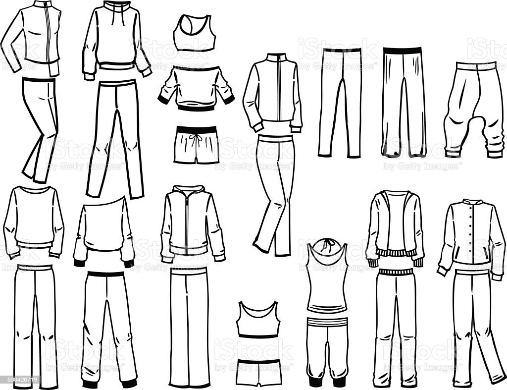 Contours of sportswear royalty-free stock vector art