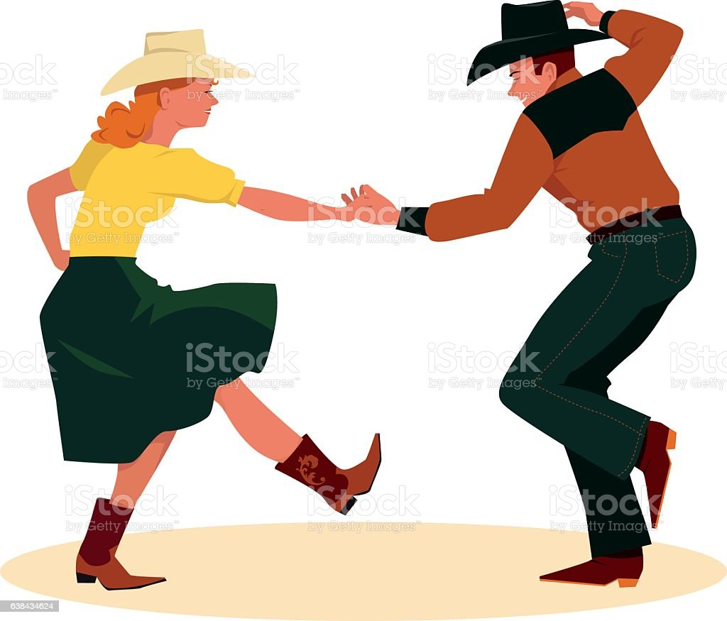 royalty free square dancing clip art vector images illustrations rh istockphoto com square dance clip art free Square Dance Logo Clip Art