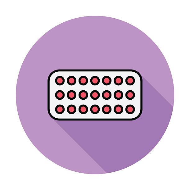 illustrazioni stock, clip art, cartoni animati e icone di tendenza di pillola contraccettiva orale - contraccettivo