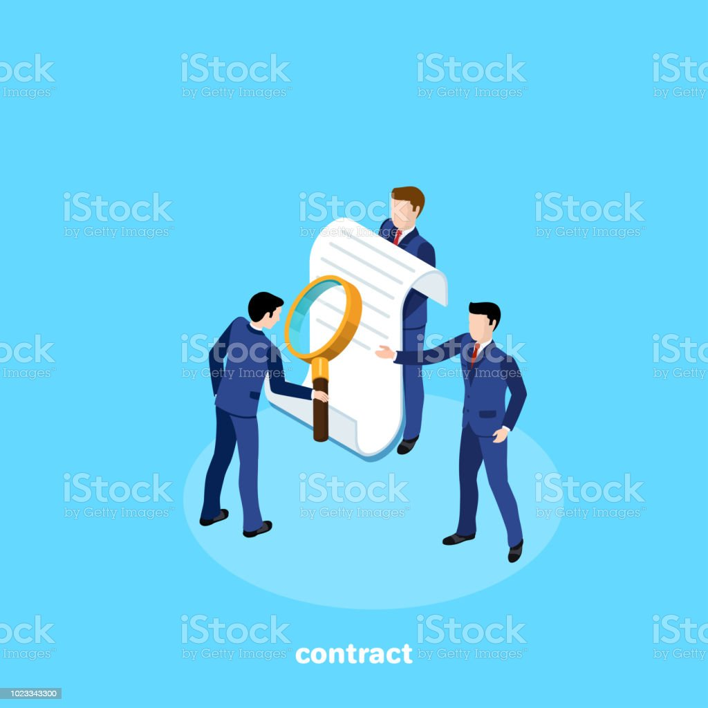 contract 1 vector art illustration