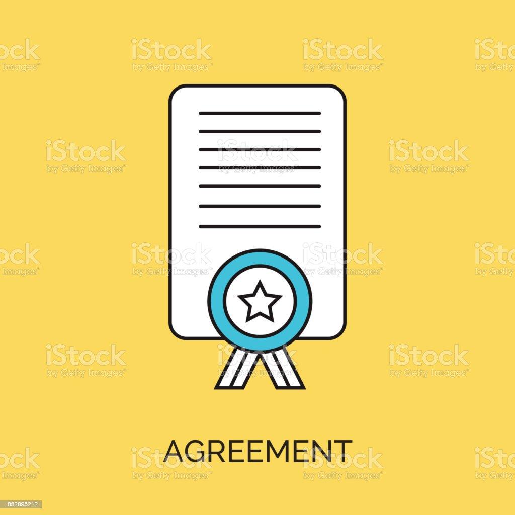 Vertrag Vereinbarung Symbol Stock Vektor Art Und Mehr Bilder Von