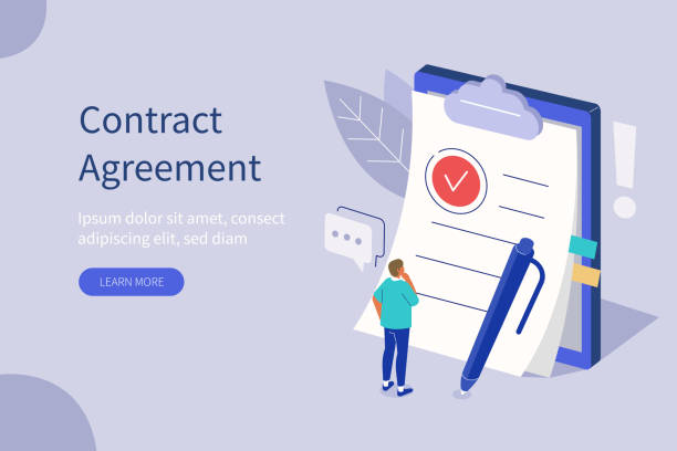 contract agreement vector art illustration
