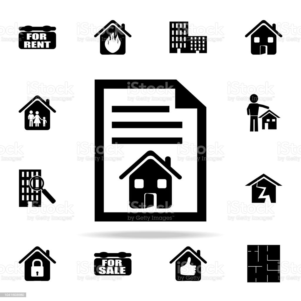 Contract At Home Icon Real Estate Icons Universal Set For Web And Mobile Stock Illustration Download Image Now Istock