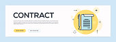 Contract Concept - Flat Line Web Banner