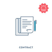 Contract Icon with Editable Stroke and Pixel Perfect.