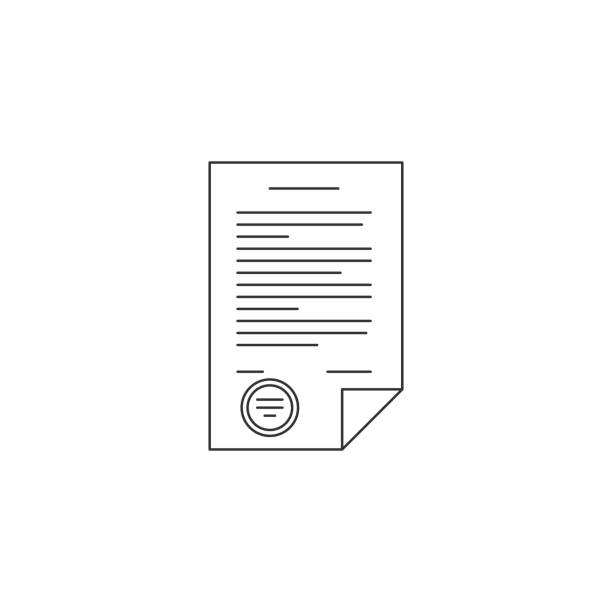 Best Legal Document Illustrations, Royalty-Free Vector