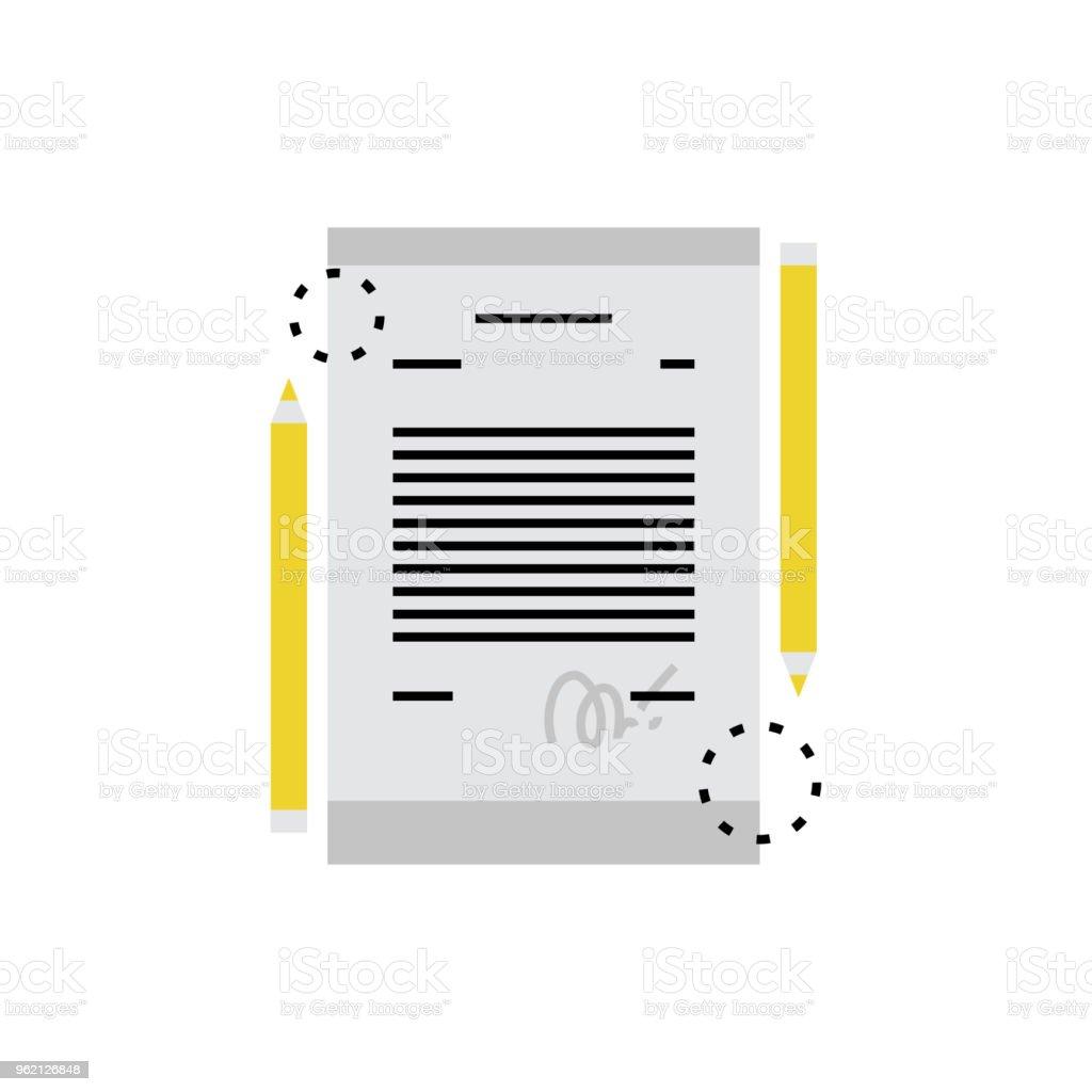 Vertrag Monoflat Symbol Stock Vektor Art und mehr Bilder von ...