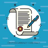 istock Contract Open Outline Bitcoin Icon 881328320