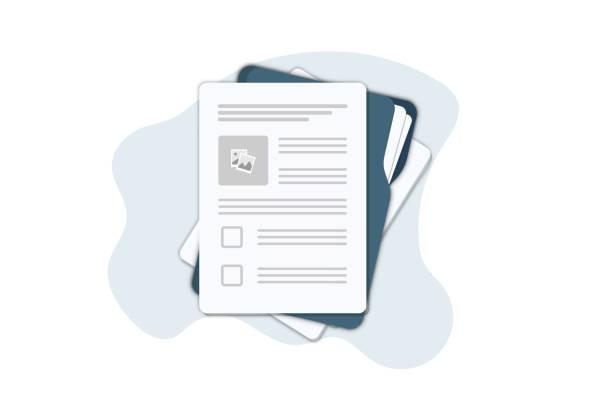dokumenty kontraktowe. dokumentu. folder z pieczęcią i tekstem. podpisanie umowy. umowa umowa protokół ustaleń prawnych pieczęć dokument, koncepcja banerów internetowych, stron internetowych, infografiki. - papier stock illustrations