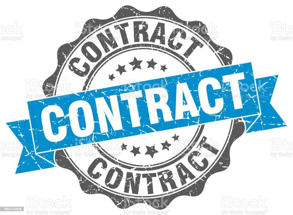 timbre de contrat. signe. joint d'étanchéité - clipart vectoriel de Badge libre de droits