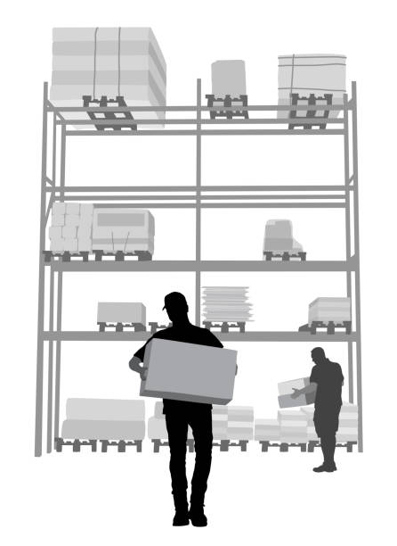 contractor warehouse materials - clip art of a black and white barn stock illustrations, clip art, cartoons, & icons
