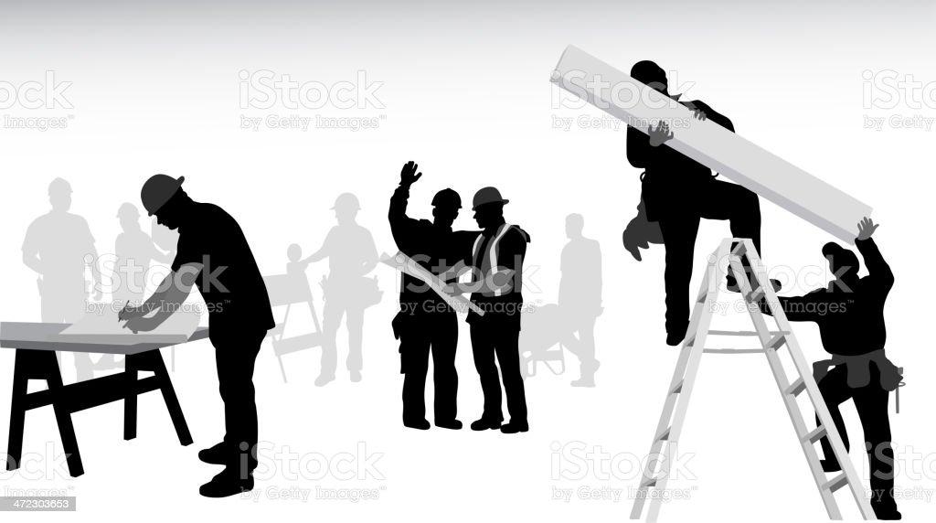 Contractors royalty-free stock vector art