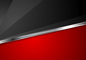 Contrast red and black corporate background with metallic stripe. Vector illustration