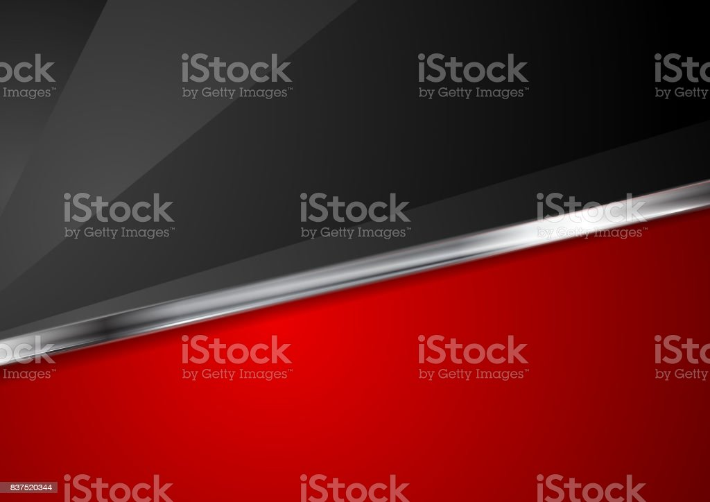 Contrast red and black background with metallic stripe vector art illustration