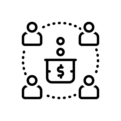 Icon for contribute, give, share, provide, bestow, confer, endue, donation, sharing, allowance, offering, participants