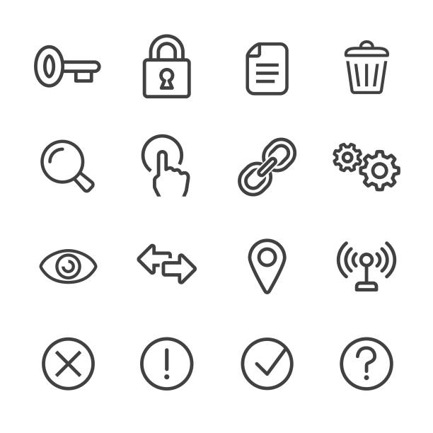 Control and Setting Icons - Line Series Control, Setting, choosing stock illustrations