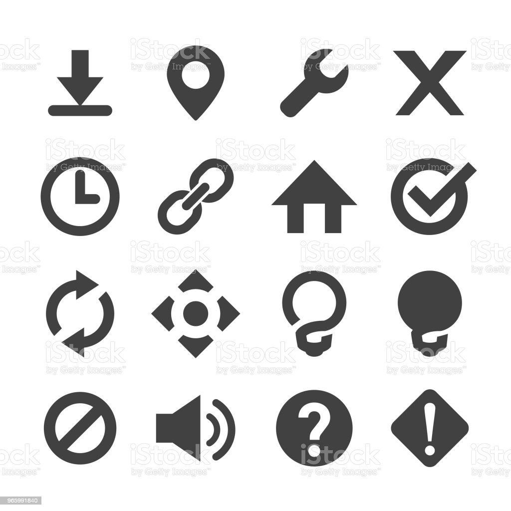 Control and Toolba Icon - Minimal Series - Royalty-free Arranging stock vector